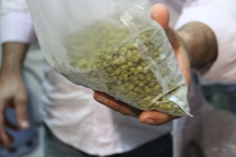 Lúpulo - hops.  Most people get them in pellets like this
