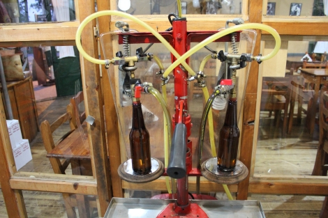 Bottling station.  Production is very boutique around 1,000 bottles a month