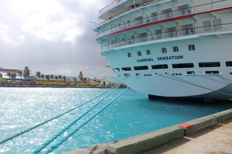 Our ship in the Bahamas