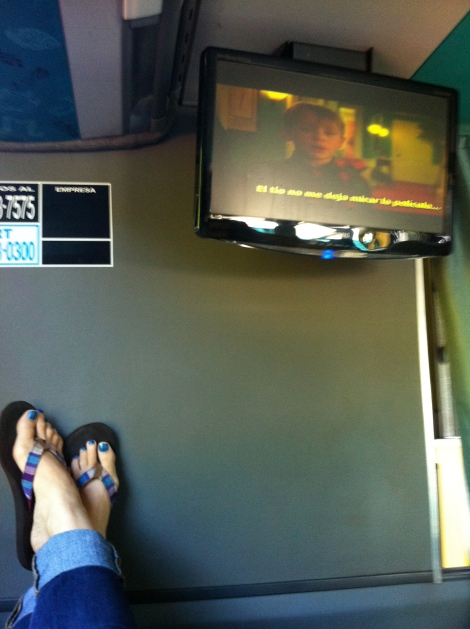 Oh yeah... chillin' and watchin' some Home Alone on Christmas Day in the bus.