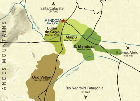 mendoza wine regions_argentina-map